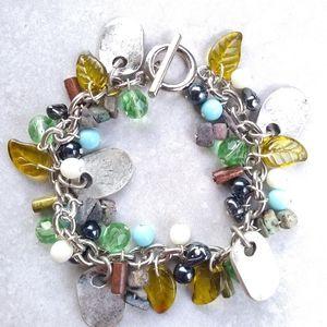 Jewelry - NWOT Silver tone charm bracelet was w